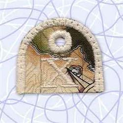Key Tab Alphabet X embroidery design