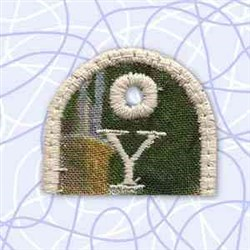 Key Tab Alphabet Y embroidery design
