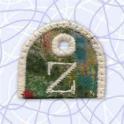 Key Tab Alphabet Z embroidery design