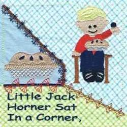 Little Jack Horner embroidery design