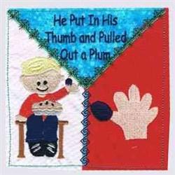 Little Jack Horner Block embroidery design