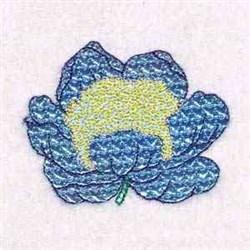 Mylar Blossom embroidery design