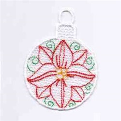 Poinsettia Ornament embroidery design