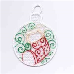 Stocking Ornament embroidery design