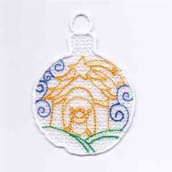 Nativity Ornament embroidery design
