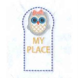 My Place Bookmark embroidery design