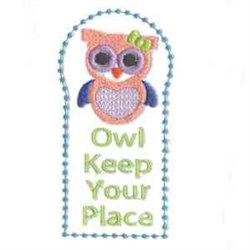 Keep Your Place embroidery design
