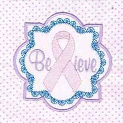 Believe Block embroidery design