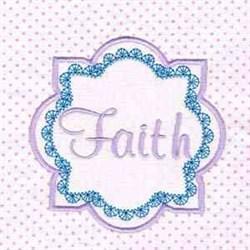 Faith Block embroidery design