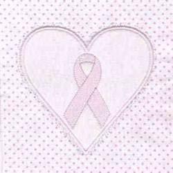 Pink Ribbon Block embroidery design