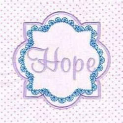 Hope Block embroidery design