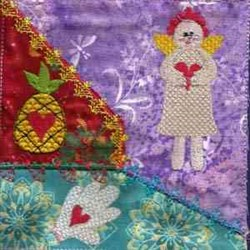 Sweethearts Quilt embroidery design