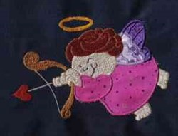 Applique Chubby Angel embroidery design