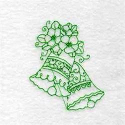 Redwork Floral Bells embroidery design