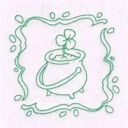 Pot O Gold Block embroidery design