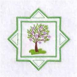 Spring Season Tree embroidery design