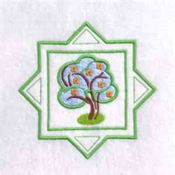 Spring Time Tree embroidery design