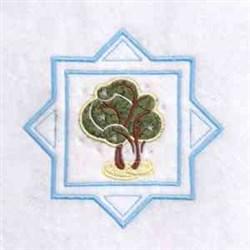 Winter Season Tree embroidery design