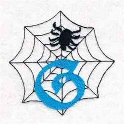Spiderweb Letter G embroidery design