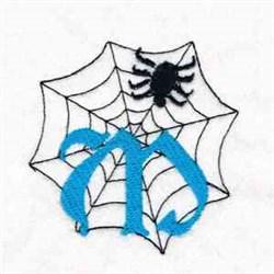 Spiderweb Letter M embroidery design