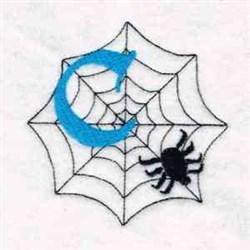Spiderweb Letter C embroidery design