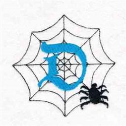 Spiderweb Letter D embroidery design