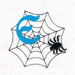 Spiderweb Letter E embroidery design