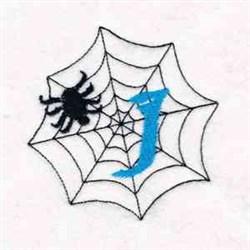 Spiderweb Letter I embroidery design