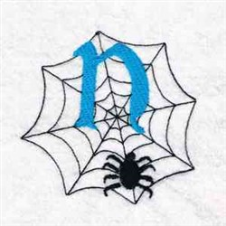 Spiderweb Letter N embroidery design
