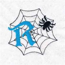 Spiderweb Letter R embroidery design