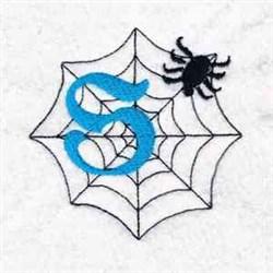 Spiderweb Letter S embroidery design