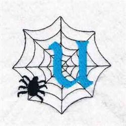 Spiderweb Letter U embroidery design