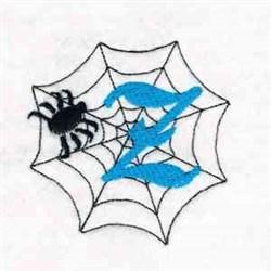 Spiderweb Letter Z embroidery design