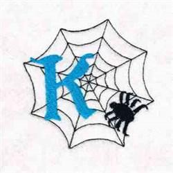 Spiderweb Letter K embroidery design