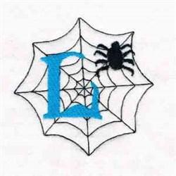 Spiderweb Letter L embroidery design
