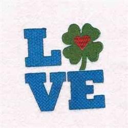Shamrock Love embroidery design