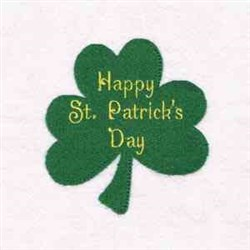 Happy St Patricks embroidery design
