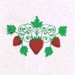 Curly Strawberries embroidery design