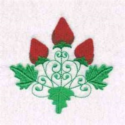Three Strawberries embroidery design