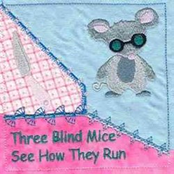 3 Blind Mice Quilt embroidery design