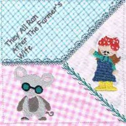 3 Blind Mice Square embroidery design