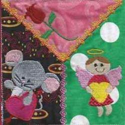 Valentine Mice Block embroidery design