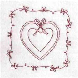 Heart Quilt Square embroidery design