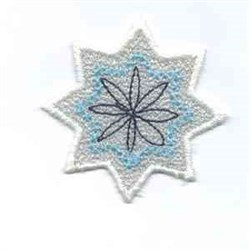 Winter Banner Snowflake embroidery design
