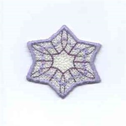 Winter Snowflake Banner embroidery design