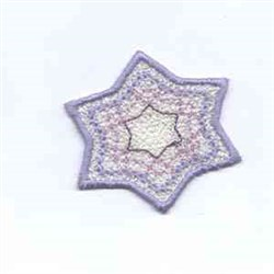 Winter Banner Star embroidery design
