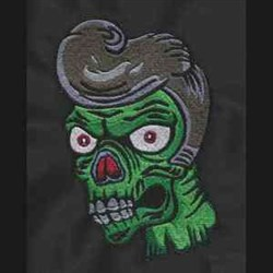 Zombie Dude embroidery design