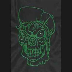 Green Zombie embroidery design