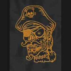 Yellow Zombie embroidery design