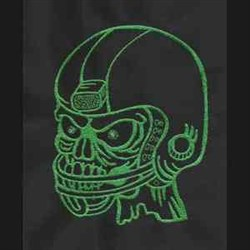 Zombie Football embroidery design